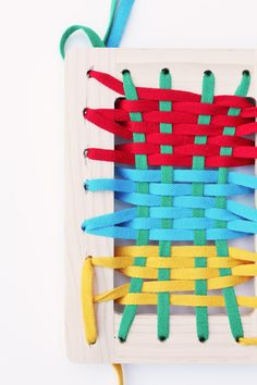 DIY Toys for kids- lacing frames.  Great for fine motor and artistic creation