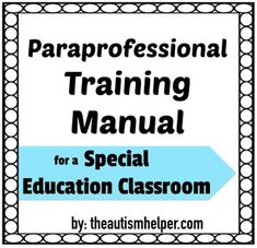 Btse Paraprofessional Training Manual  Special Education School