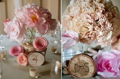 11 Ways To Make Your Wedding More Beautiful On A Budget - paper/coffee filter flowers, glass jars and baby breath, 'photo booth' or backdrop area with ribbon (weighted on the bottom? Summer Wedding Centerpieces, Wedding Decorations On A Budget, Vintage Centerpieces, Centrepieces, Centerpiece Ideas, Budget Wedding, Table Decorations, Do It Yourself Wedding, On Your Wedding Day