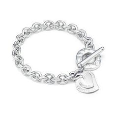 Tiffany ; Co Double Heart Toggle Bracelet Jewelry #New #Arrivals