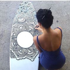 Dream life Mandala Doodle, Mandala Art, Surfboard Art, Zen Art, Surf Art, Flower Mandala, Mandala Coloring, Mandala Design, Art Inspo