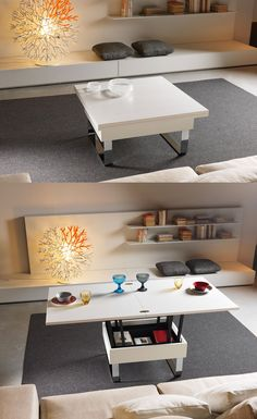 Coffee table cum dining table