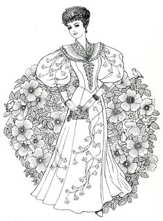 Art Nouveau Fashions for coloring