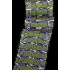 Sosumi Weaving Pamela Whitlock Handwoven Bamboo Africa Scarf in Lime and Sugar, Artistic Artisan Designer Scarves