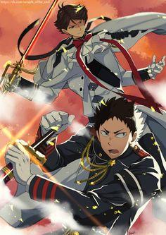 Haikyuu! crossover Owari No Seraph |Oikawa & Iwaizumi|