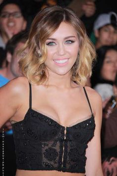 Miley Cyrus new medium length ombre - hairstyles