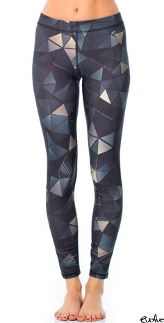 Add a whole new level of edgy style to your workout ensemble with these geometric print leggings from Terez! Shop now at www.evolvefitwear.com.