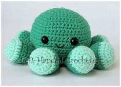 Amigurumi Octopus.A different take on creating the legs.  I like this pattern