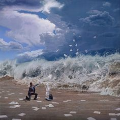 Surrealist oil painter Joel Rea from Queensland, Australia is anything but your average painter. The moment I saw one of his paintings, I had to see more! Read full article: www.uniquespiration.com/sublime-cataclysmic-surrealism-by-australian-artist-joel-rea