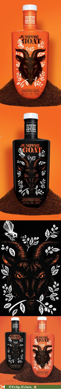 Jumping Goat Coffee-infused Vodka and Whiskey Liqueur.