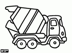 Truck mixer coloring page