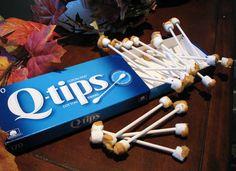 These Q-tip marshmallows.   19 Gross Dessert Ideas To Make A Sick Halloween