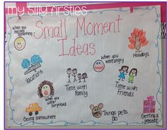 My Silly Firsties: Writing - small moment ideas
