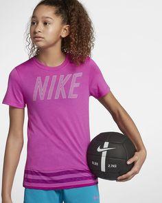 Nike Dri-FIT Big Kids' (Girls') Short Sleeve Training Top Big Kids, Kids Girls, Kids Sportswear, Training Tops, Short Girls, Nike Dri Fit, Sleeve, Fitness, Women