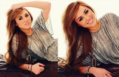 Miley Cyrus. Love her makeup on this photo.