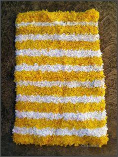 Bath Mat, Crocheted Plastic Bags