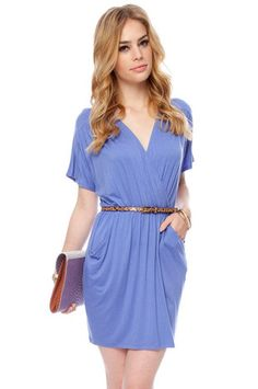 Wrap Your T-Back Dress in Periwinkle $36 at www.tobi.com
