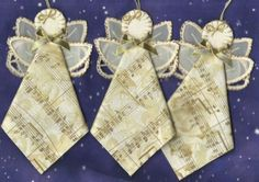 12 Angels Handmade Embroidery Music Notes Fabric Ornaments 5006 | eBay