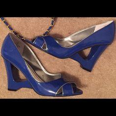 Price Drop/Cobalt blue shoes for sale.   bag is not for sale Bisou Bisou Shoes Platforms