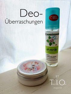 """Deo-Überraschungen: alverde Deo-Zerstäuber Wasserminze Meeresmineralien und Wolkenseifen Deocreme """"Traumstunden""""  A small update of my natural deodorants! :)"""