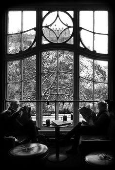 A view of Edinburgh Castle from Starbucks on Princes Street.#thisisedinburgh