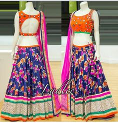 Gvcxz Indian Skirt, Indian Dresses, Indian Outfits, Choli Designs, Blouse Designs, Traditional Fashion, Traditional Outfits, Chanya Choli, Lahenga