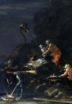 Witches at their Incantation, Salvator Rosa - circa 1646 (detail)