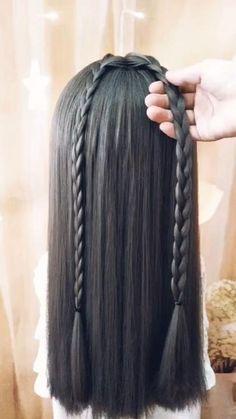 Wavy Bob Hairstyles, Summer Hairstyles, Diy Hairstyles, Pretty Hairstyles, Hairstyles Videos, Curly Hair With Bangs, Braids For Long Hair, Curly Hair Styles, V Hair