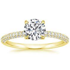 18K Yellow Gold Valencia Diamond Ring from Brilliant Earth