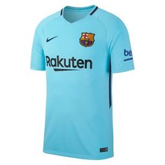 Nike Youth Barcelona Soccer Jersey (Away 17/18): http://www.soccerevolution.com/store/products/NIK_41119_A.php
