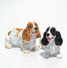 English Cocker Spaniel Dog Ceramic Figurine Salt Pepper Shaker 00014 Ceramic Handmade Dog Lover Gift Collectible Home Decor Art and Crafts by Cocker Spaniel - madamepOmm -. $59.00. English Cocker Spaniel Dog Lover Ceramic Original Handmade Hand Paint Salt and Pepper Shaker Figurine Ceramic Home Decor Collectibles  Made of ceramic porcelain high fired interior apply clear under-glaze, food safe painted with attention hand painted acrylic paint then apply clear gloss prot...