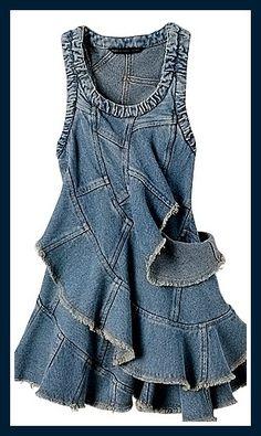 Текстильные фантазии и не только: Новая одежда из старых джинсов