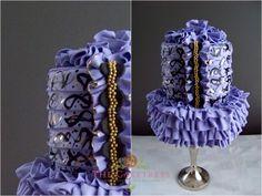 Fashon Inspired Cake by The Caketress - Toronto Custom Wedding Cakes Elegant Wedding Cakes, Wedding Cake Designs, Fancy Cakes, Cute Cakes, Awesome Cakes, 13 Birthday Cake, Birthday Ideas, Blue White Weddings, Purple Food