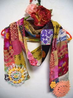 Cotton Silk Multi Color Scarf inspiration