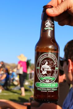 """A free concert in the park along with a Coronado Brewing Company """"Islander IPA"""" - what could be better? - 2014 -  Photo by San Diego video producer Patty Mooney of Crystal Pyramid Productions"""
