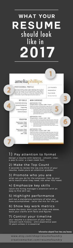 This is the way your Resume should look like in 2017 (scheduled via http://www.tailwindapp.com?utm_source=pinterest&utm_medium=twpin&utm_content=post186813299&utm_campaign=scheduler_attribution)