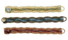 Cabled bracelet: herringbone stitch (Download Now)