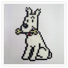 Milou Tintin hama mini beads by Pixel Art Shop
