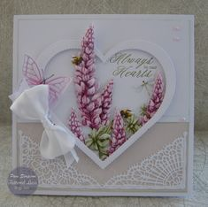 """Hello everyone, DT samples for Tattered Lace """"Raspberry Roses Collection"""" Launching on Create and Craft TV. Wedding Cards Handmade, Handmade Gift Tags, Hand Made Greeting Cards, Greeting Cards Handmade, Create And Craft Tv, Heartfelt Creations Cards, Tattered Lace Cards, Birthday Cards For Women, Fancy Fold Cards"""