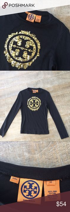 Tory Burch logo tee like new! Excellent used condition (like new!) Tory Burch logo tee. Size XS. Offers welcome! Tory Burch Tops Tees - Long Sleeve