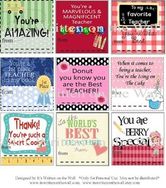Free Printable Gift Tag Templates for teacher appreciation | Free Printable}Teacher Appreciation Notes & Gift Ideas by Mmorein14