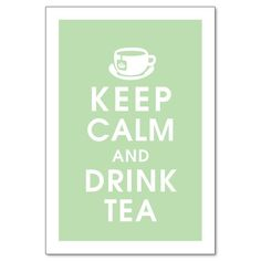 green tea please
