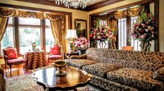 Formal Sitting Room | Stunning High Country English-Inspired Home and Horse Farm in Ligonier | Photo Credit: Finite Visual via Christie's International