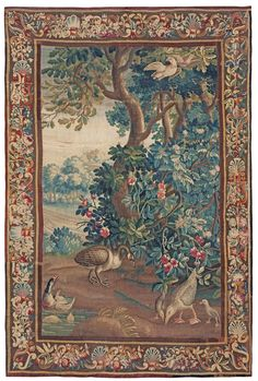 Tapestry weave, Verdure,France, M.Beauvais, end of 17th century