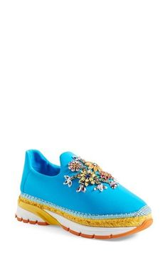 Dolce&Gabbana Crystal Embellished Sneaker (Women) available at #Nordstrom