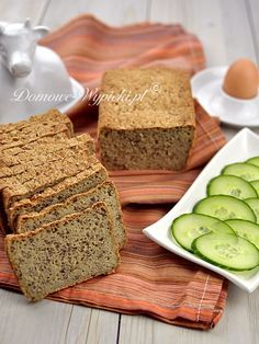 Chleb ziemniaczany bezglutenowy Gluten Free Recipes, Vegetarian Recipes, My Favorite Food, Favorite Recipes, Polish Recipes, Sin Gluten, Vegan, Banana Bread, Healthy Snacks