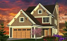 Narrow 3 Bed Craftsman Home Plan - 89965AH thumb - 01