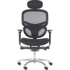 Seat Slider Gemini Ergonomic High Back Mesh Chair With Arms Lumbar /& Head Rest