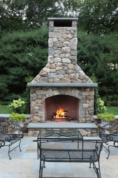 Merveilleux Outdoor Fireplace Built By Freddyu0027s Landscape Company