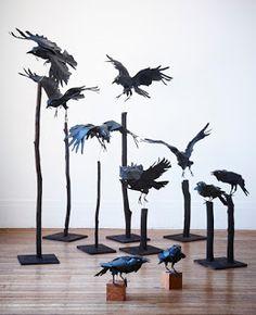 Esculturas de papel de Anna Wili Highfield